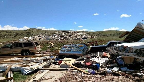 Seven homes destroyed, two injured in Campbell Co  twister