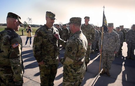 William Spaulding promoted to sergeant major