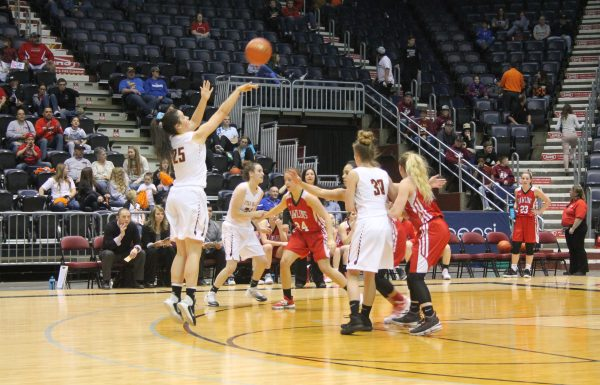 Lady Braves come up short against Buffalo, 41-37