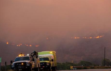 U.S. 40 closed, evacuations remain near Dollar Ridge Fire Thursday